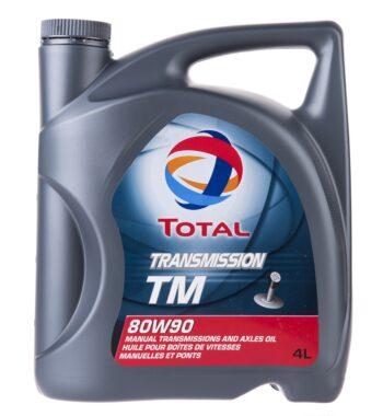 روغن دنده خودرو توتال مدل Transmission TM چهار لیتری 80W-90