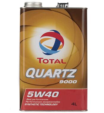 روغن موتور خودرو توتال مدل Quartz 9000 چهار لیتری 5W-40