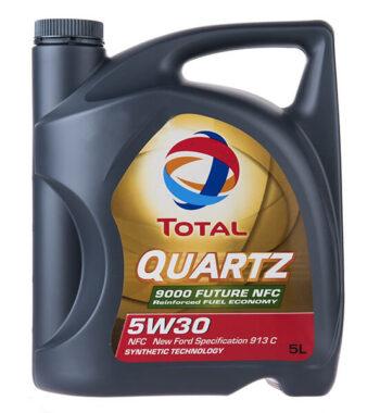 روغن موتور خودرو توتال مدل Quartz 9000 Future NFC پنج لیتری 5W-30