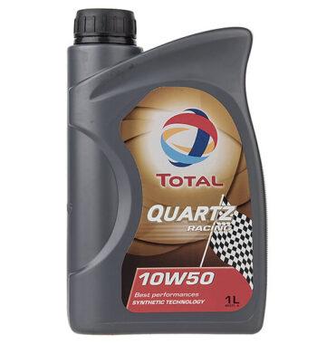 روغن موتور خودرو توتال مدل Quartz Racing یک لیتری 10W-50